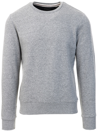 Brave Soul Light Grey Marl Crew Sweat  - Click to view a larger image