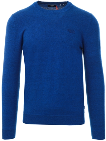 Superdry Bright Marine Grindle Orange Label Crew Jumper  - Click to view a larger image