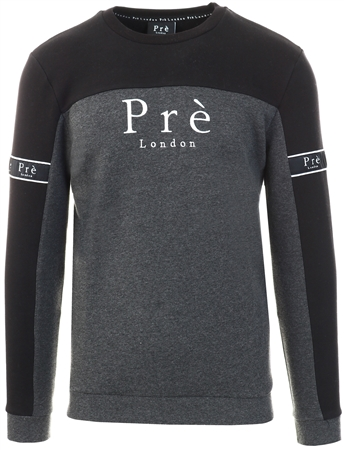 Pre London Black/Charcoal Marl Eclipse Sweat  - Click to view a larger image