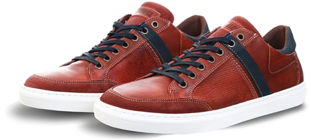 Lloyd & Pryce Rust Speck Daly Lace Up Leather Trainer  - Click to view a larger image