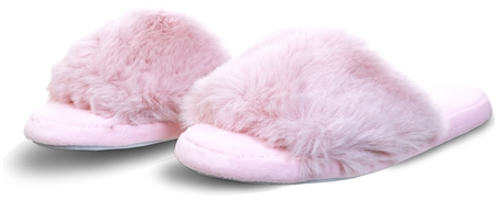 Krush Pink Faux Fur Fluffy Slider  - Click to view a larger image