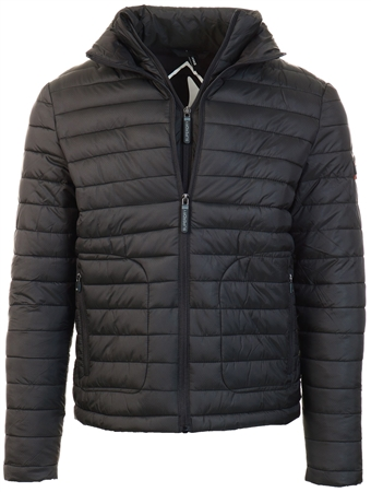 Superdry Black Fuji Double Zip Jacket  - Click to view a larger image