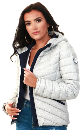 Superdry Grey Marl Essentials Helio Padded Jacket  - Click to view a larger image