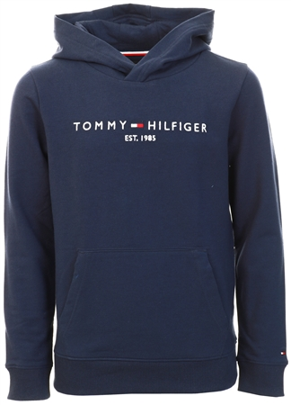 Tommy Jeans Twilight Navy Essential Logo Pure Cotton Hoody  - Click to view a larger image