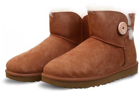 Ugg Chestnut Mini Bailey Button Boot  - Click to view a larger image