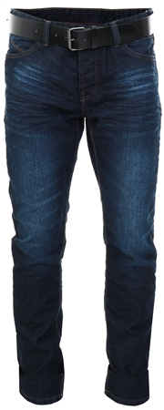 Dv8 Dark Wash Denim Straight Fit Jeans With Belt  - Click to view a larger image