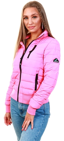 Superdry Azalea Pink Fuji Bomber Jacket  - Click to view a larger image