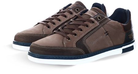 Lloyd & Pryce Brown Panel Lace Up Trainer  - Click to view a larger image