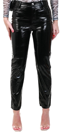 Only Black Emily Vinyl Trousers  - Click to view a larger image