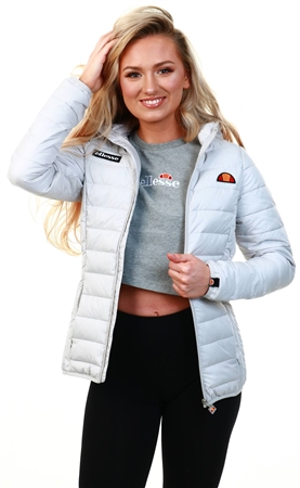 Ellesse Light Grey Lompard Padded Jacket  - Click to view a larger image
