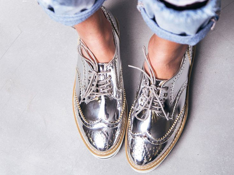 Blogger Footwear Picks with Silver Brogues