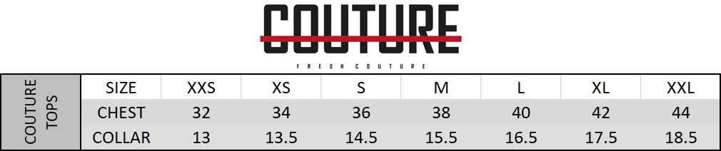 Fresh Couture Size Chart