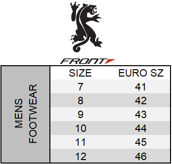 Front Size Chart