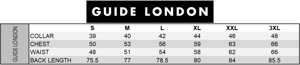 Guide London Size Chart