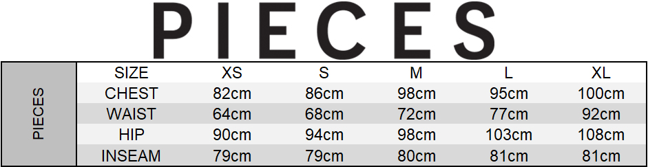 Pieces Size Chart